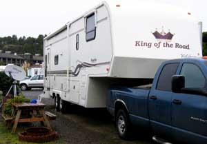 Parked at Cape Kiwanda RV Resort