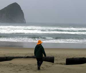 A stormy stroll on Pacific City Beach