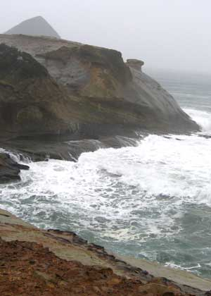 The view of north Cape Kiwanda