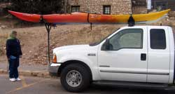 On our return, we see a truck with the idea I had for a truck kayak rack