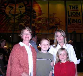 Our family at the Broadway production of  the Lion Kin