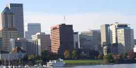 Portland skyline from the Willamette River
