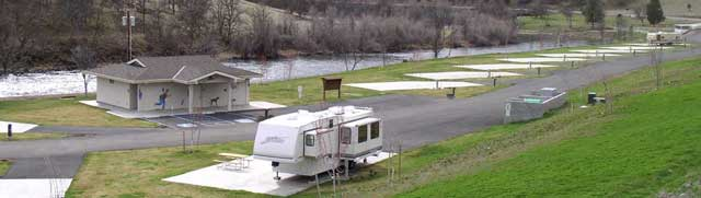 Exceptionally clean restrooms and concrete pads make this a well planned RV park.