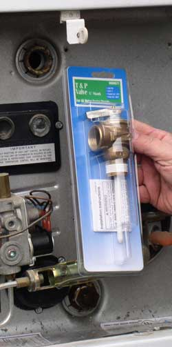 Replace an leaking pressure relief valve