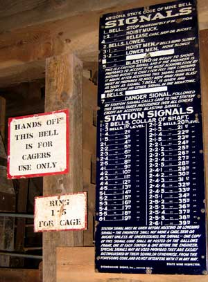 Click to read the bell signals for the 39 levels, that's 3900 feet of elevator shaft