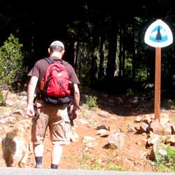 Morgan takes Dale for hike on the Pacific Crest Trail