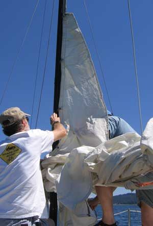 Hoist the main sail
