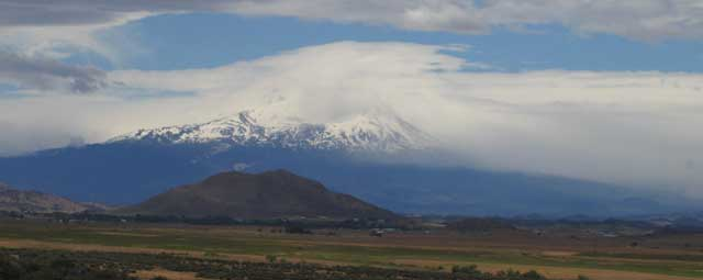 Mt. Shasta from north along Interstate 5