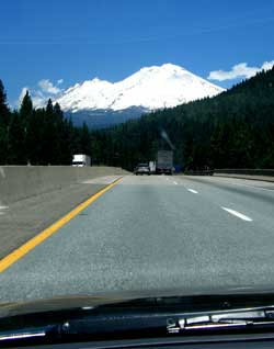 Approaching Mt. Shasta from the south along Interstate 5