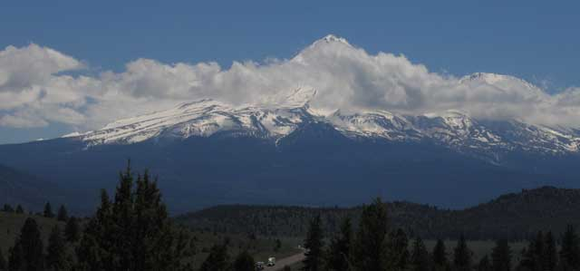 Mt. Shasta from the north along US97