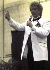 Frank Sternett, a Las Vegas entertainer was the entertainment on the first night