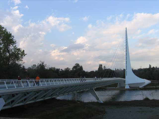 Sundial Bridge in Redding CA