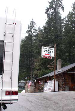 The Dry Creek Store was about 8 miles from our camp site.