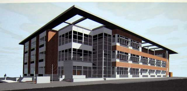 The architect's view of the new RCC/SOU joint education building